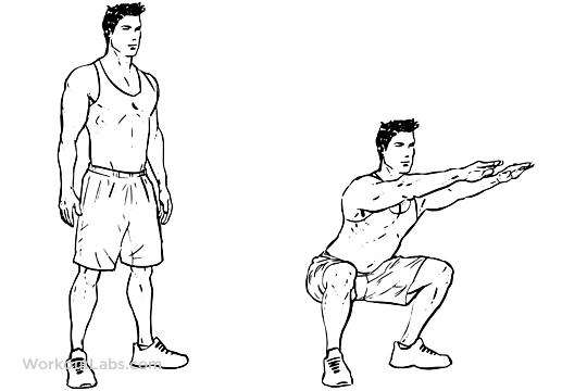 Boxing footwork Squats