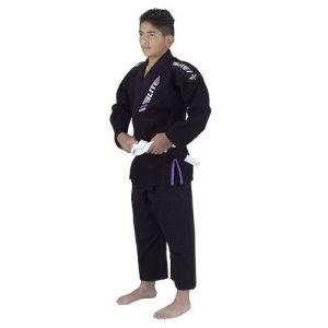 Elite Sports Ibjjf Ultra Light Bjj Brazilian Jiu Jitsu Gi For Kids with Preshrunk Fabric and Free Belt